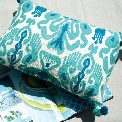 Grand Illusions Boho Myan Cushion & Pad Turquoise