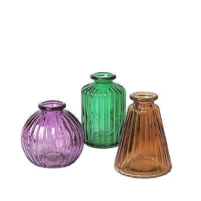 Broste Copenhagen Agnar Glass Set of 3 Vases