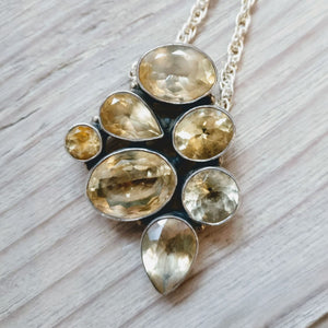 Load image into Gallery viewer, Citrine Multi Stone Sterling Silver Pendant