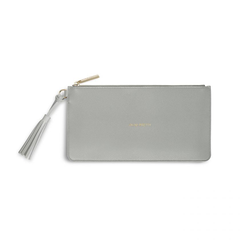 Katie Loxton | Florrie Tassel Pouch | Oh So Pretty | Pale Grey
