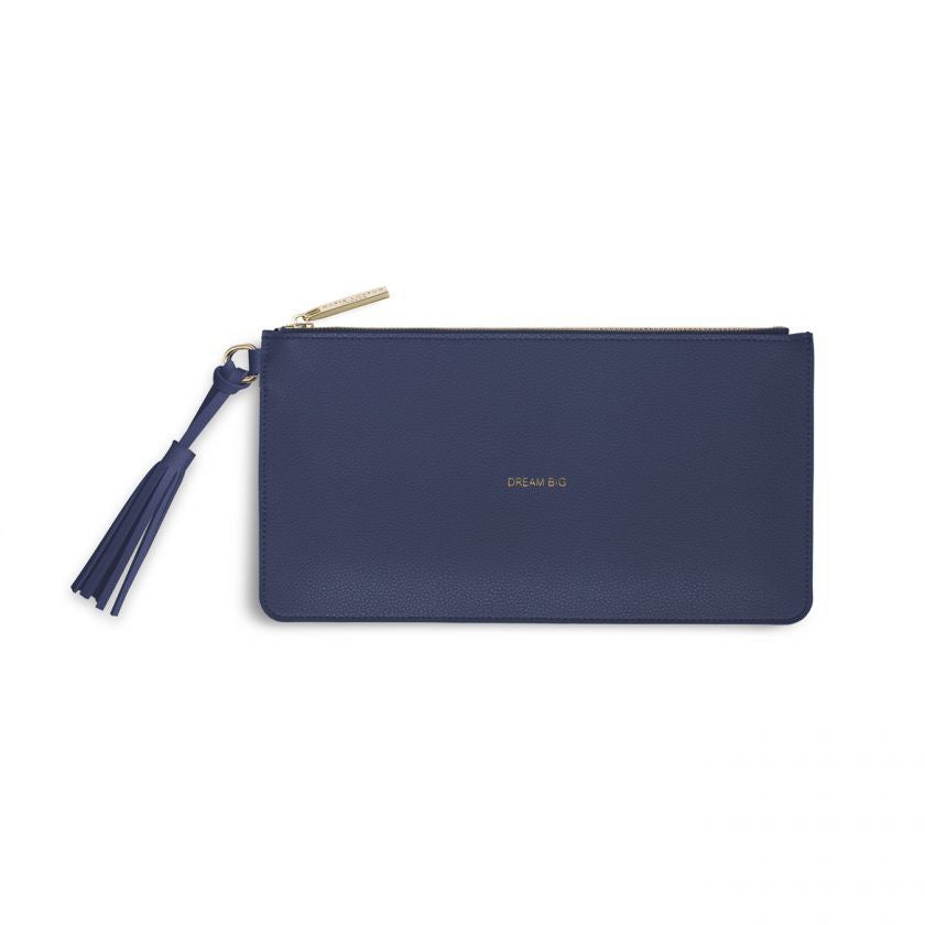 Katie Loxton | Florrie Tassel Pouch | Dream Big | Midnight Blue