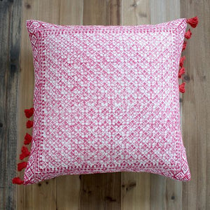 Biggie Best Mosaic Tassel Cushion Red