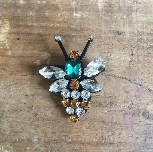 Sixton London Queen Bee Pin Green