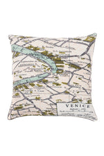 One Hundred Stars Venice Map Print Cushion Cover