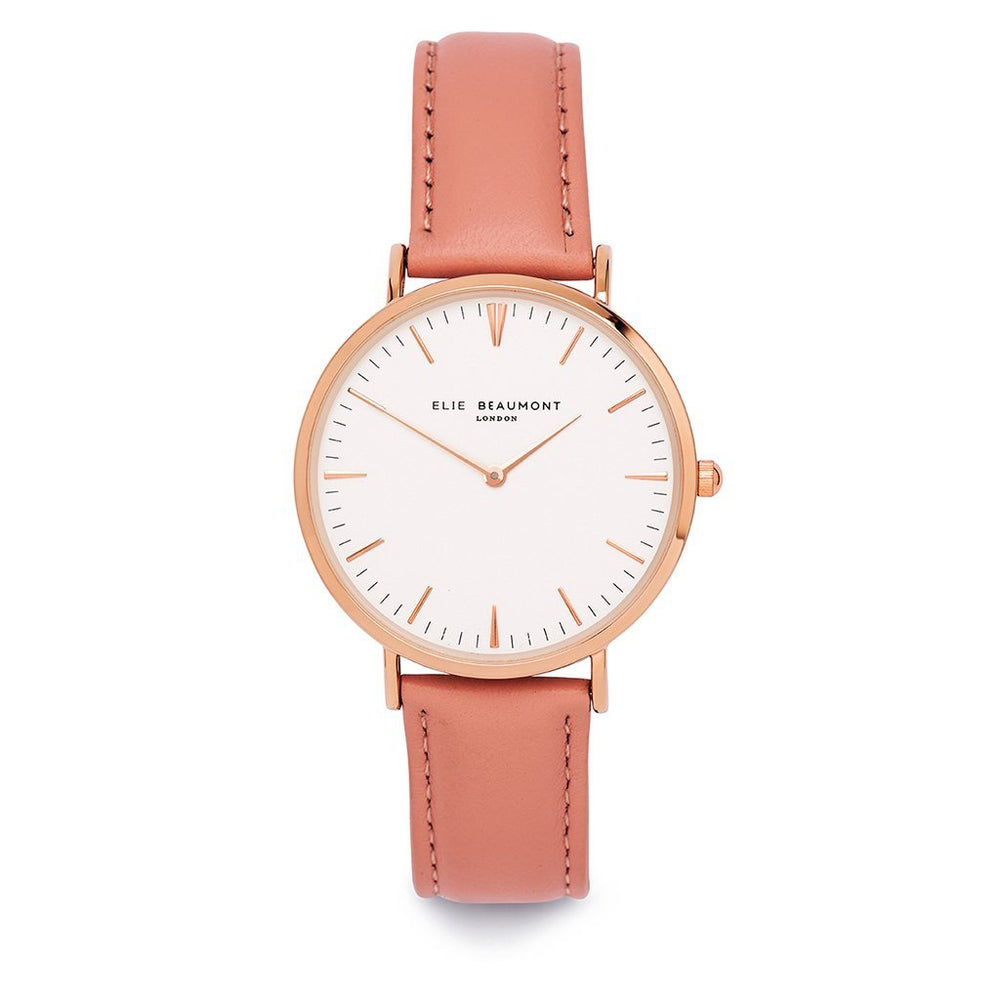 Elie Beaumont London Oxford Large Pink Watch