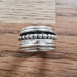 Sterling Silver Spinner Ring 17 Size P