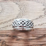 Sterling Silver Spinner Ring 6 Size Q