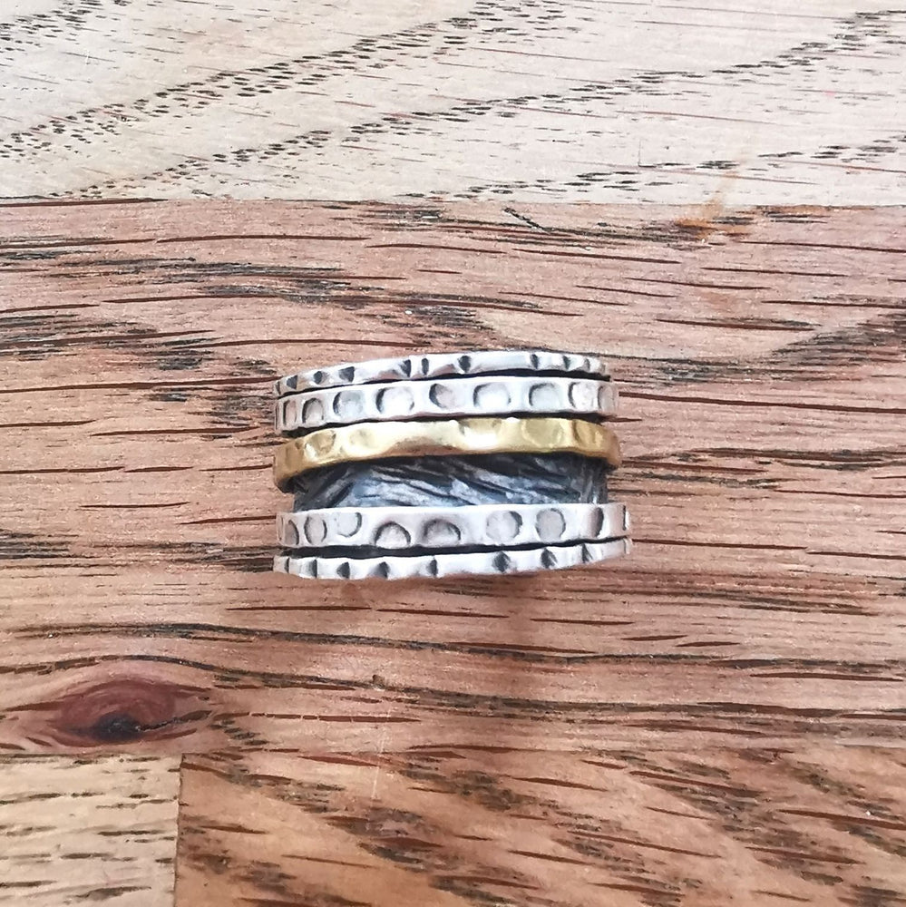 Sterling Silver Spinner Ring 7 Size R
