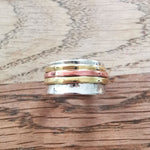 Sterling Silver Spinner Ring 8 Size R