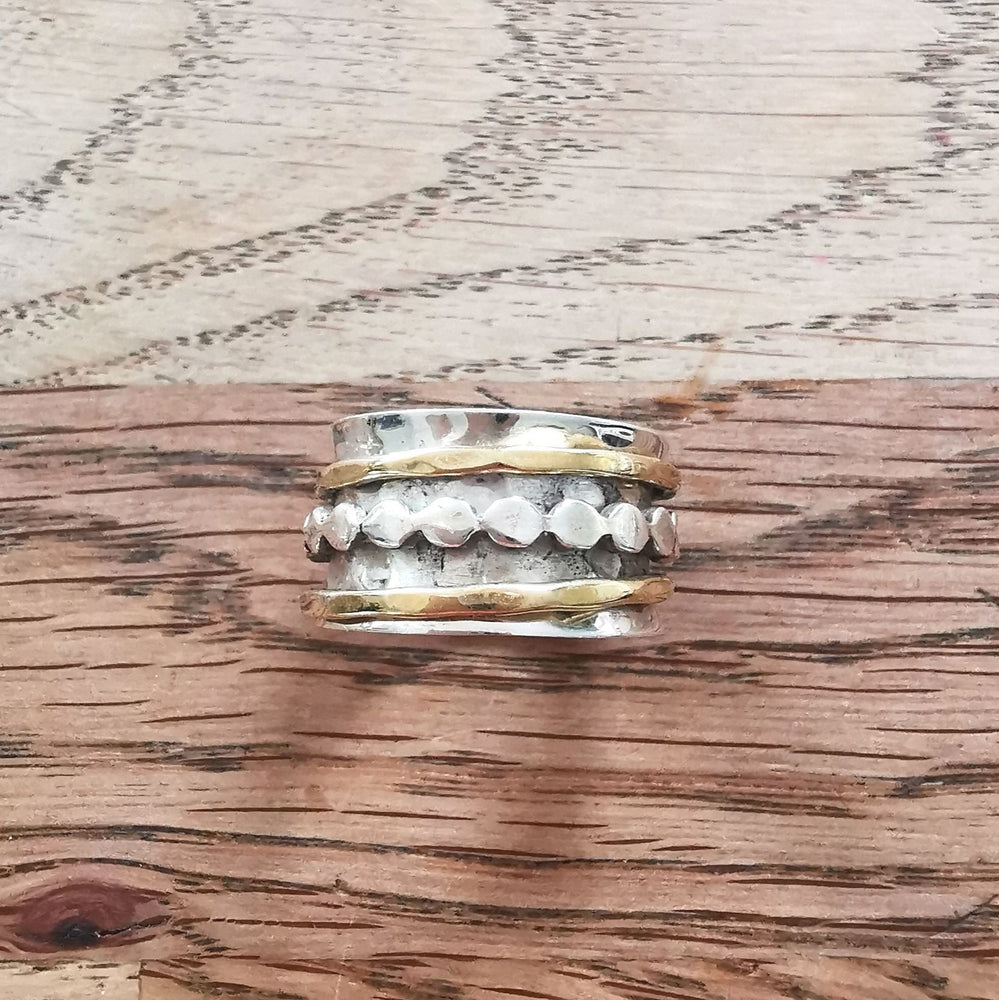 Sterling Silver Spinner Ring 10 Size Q