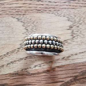 Sterling Silver Spinner Ring 11 Size O