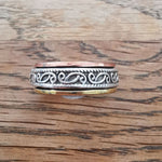 Sterling Silver Spinner Ring 21 Size R