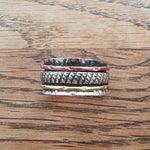 Sterling Silver Spinner Ring 23 Size R