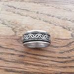 Sterling Silver Spinner Ring 24 Size O