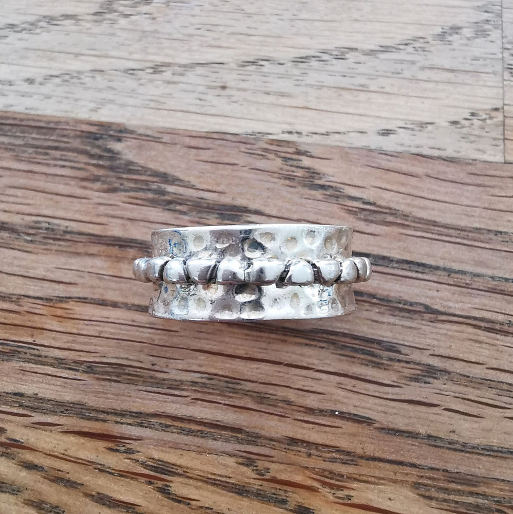 Sterling Silver Spinner Ring 27 Size T