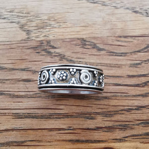 Sterling Silver Spinner Ring 28 Size N