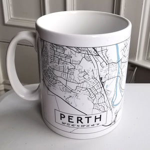 Load image into Gallery viewer, Perth Scotland Monochrome Map Mug