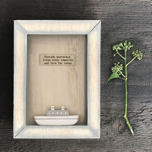 East of India Wooden Box Frame- Cherish Yesterday