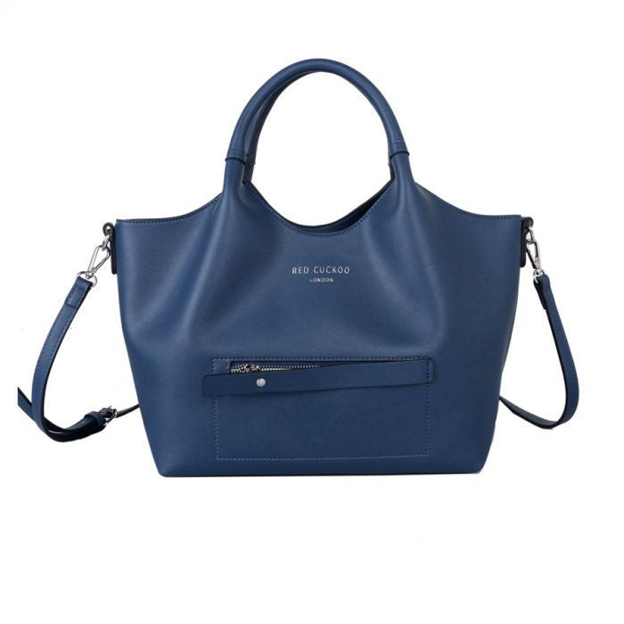 Red Cuckoo Blue Tote with Contract Lining