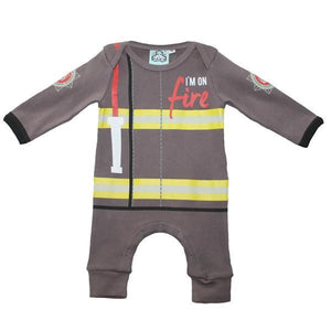 Load image into Gallery viewer, Lazy Baby Fireman Onesie Baby Grow