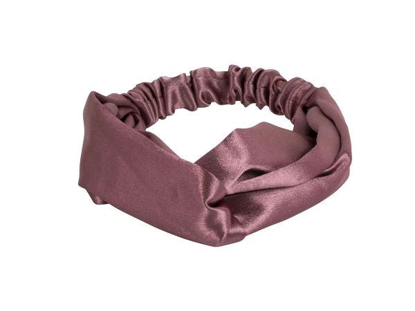 Big Metal London Harriett Pink Satin Soft Knot Headband