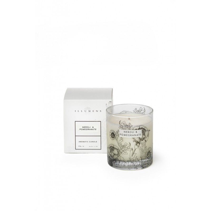 Illumens Neroli and Pomegranate Scented Candle in Glass