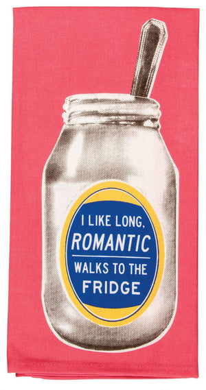 Blue Q I Like Long Romantic Walks To The Fridge Dish Towel