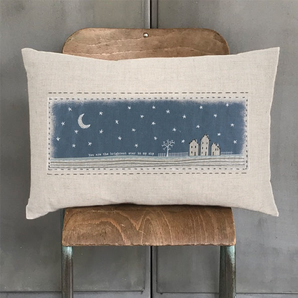 East of India You Are The Brightest Star Embroidered Cushion