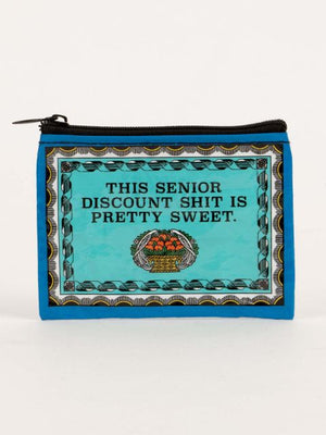 Load image into Gallery viewer, Blue Q Senior Discount Coin Purse