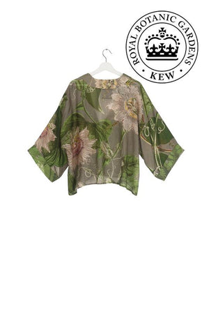 One Hundred Stars Passion Flower Stone Kimono Jacket