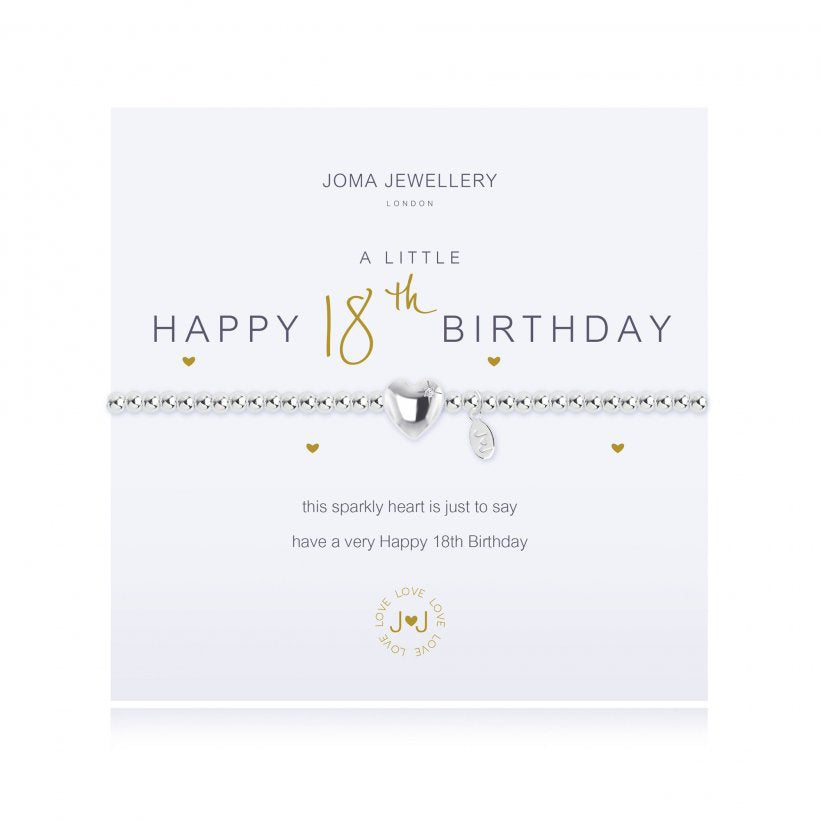 Joma Jewellery A Little Happy 18th Birthday Bracelet