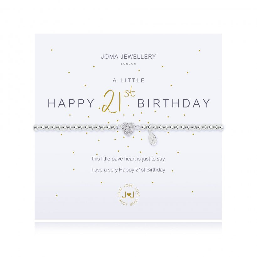 Joma Jewellery A Little Happy 21st Birthday Bracelet