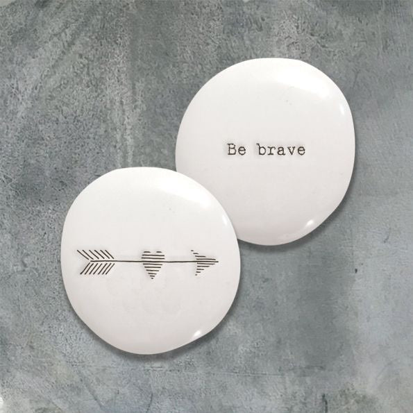 East of India Porcelain Porcelain Pebble-Be Brave