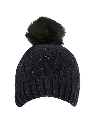 Load image into Gallery viewer, Dents Lace Knit Hat Navy