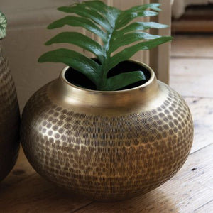 Planter Chinar Antique Brass by Grand Illusions