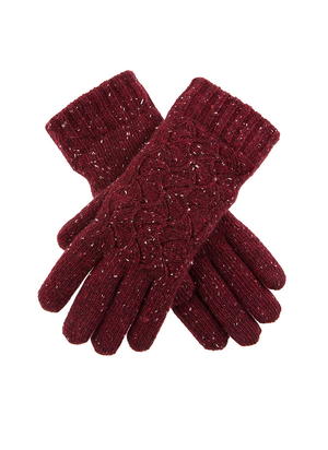 Load image into Gallery viewer, Dents Women's Lace Knit Gloves Plum