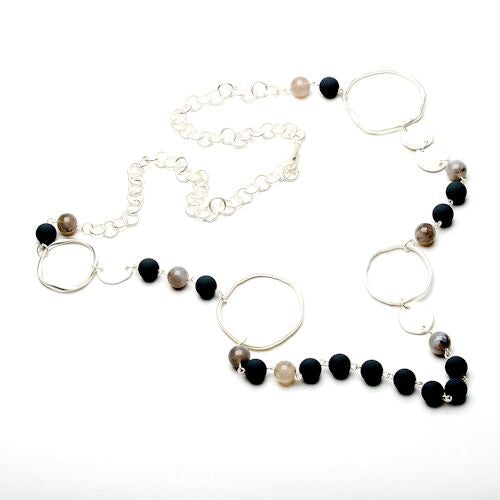 Eliza Gracious Beaded Chain Loop Necklace