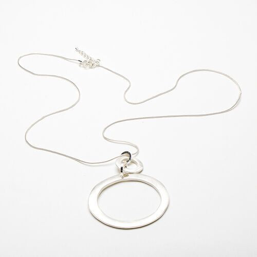 Eliza Gracious Large Circle Focal Necklace