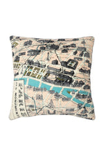 One Hundred Stars Paris Map Print Cushion Cover