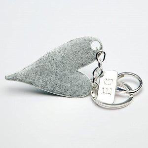 Load image into Gallery viewer, Eliza Gracious Silver Heart Key Chain