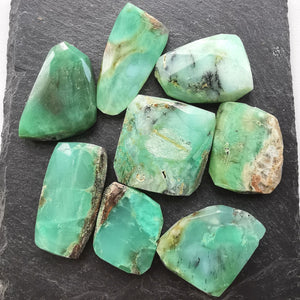 Chrysoprase Faceted Nugget Bead
