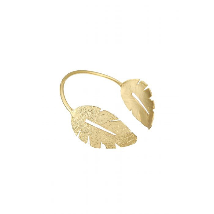 Ashiana London Laurel Leaf Bangle Gold