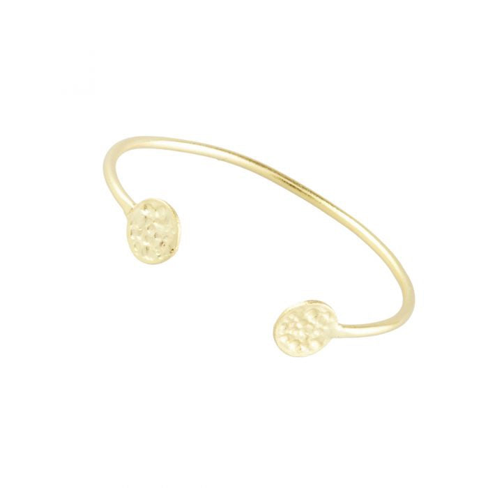 Ashiana London Simple Gold Coin Bangle