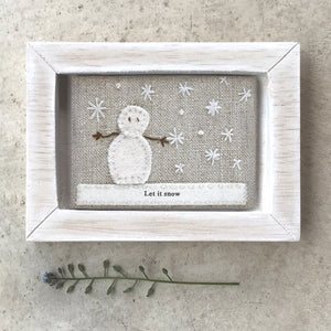 East of India Embroidered Pic - Let it Snow