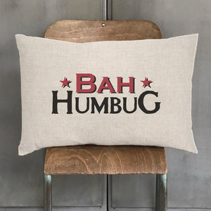 Load image into Gallery viewer, East of India Long Cushion Bah Humbug
