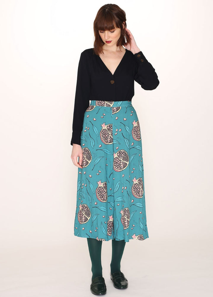 Pepaloves Pomegranate Print Culotte Trousers