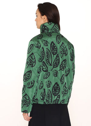 Pepaloves Green Leaves Puffy Jacket