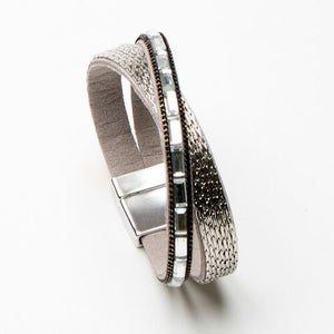 Load image into Gallery viewer, Eliza Gracious Gunmetal Wrap Cuff Bracelet