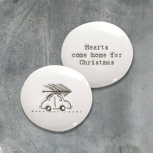 East of India Porcelain Pebble Hearts Come Home