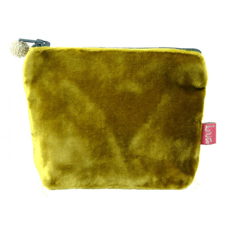 Lua Velvet Mini Purse in Mustard